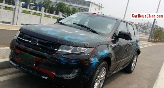 Spy Shots: Landwind E32 'Evoque' seen testing in China