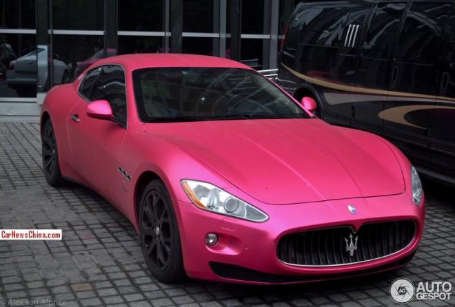 Maserati GranTurismo is Pink in China