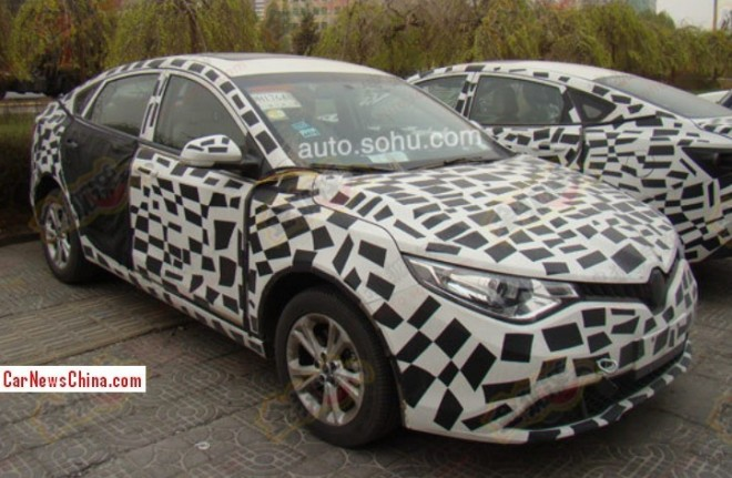Spy Shots: MG5 Four-door Coupe seen testing in China again