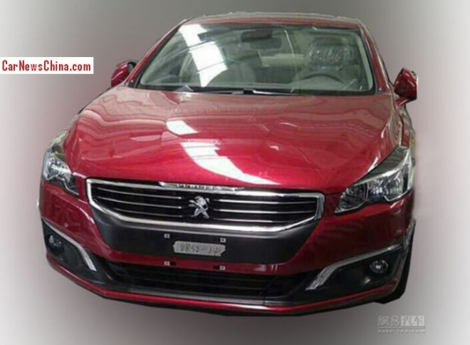 Spy shots: first photo of the 2015 Peugeot 508