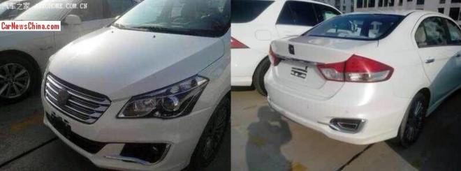 Spy Shots: Suzuki Alivio testing in China