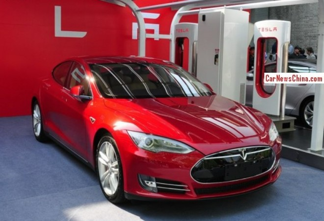 Buyers of a Tesla Model S will get a Free License Plate in Shanghai, China
