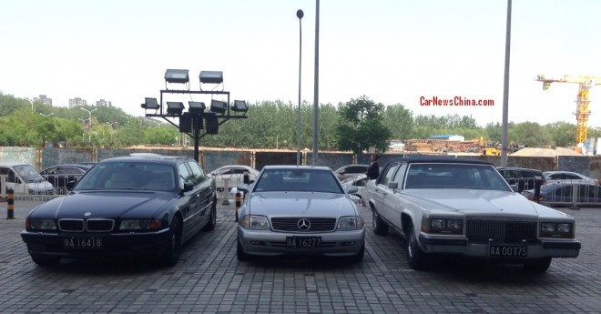 Spotted in China: E38 BMW L7, R29 Mercedes-Benz SL600, and Cadillac Brougham 5.0 Liter