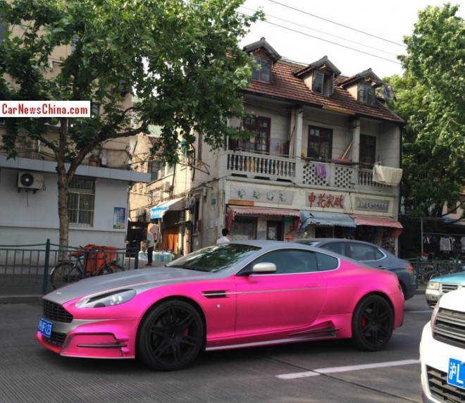 Mansory Aston Martin DB9 is partly Pink in China