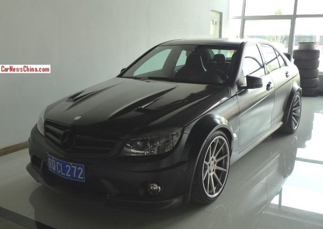 Mercedes-Benz Renntech C74  is matte black in China