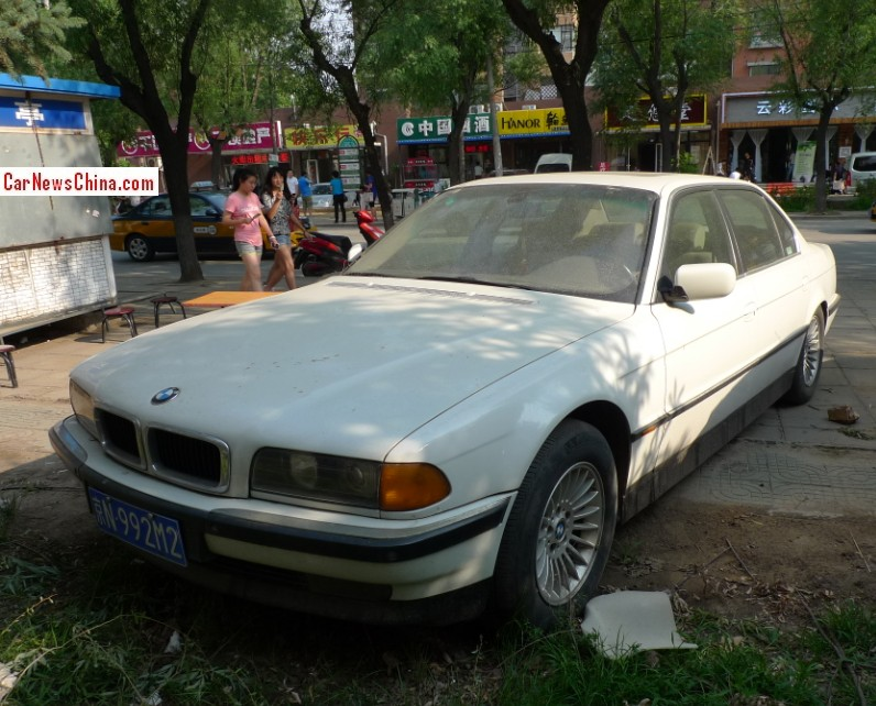 Spotted In China E38 BMW 740 IL White