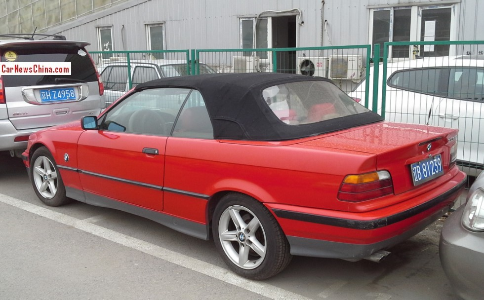 Spotted In China E BMW I Convertible In Red CarNewsChinacom - 2014 bmw 328i convertible