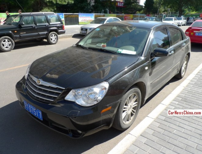 Spotted in China: the China-made Chrysler Sebring sedan