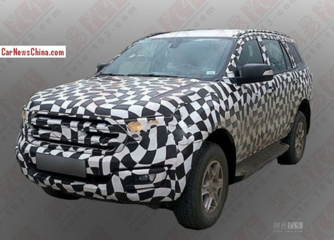 Spy Shots: Ford Everest testing in China