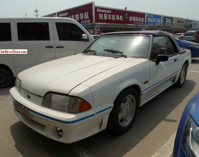 Spotted in China: third generation Ford Mustang 5.0 GT convertible