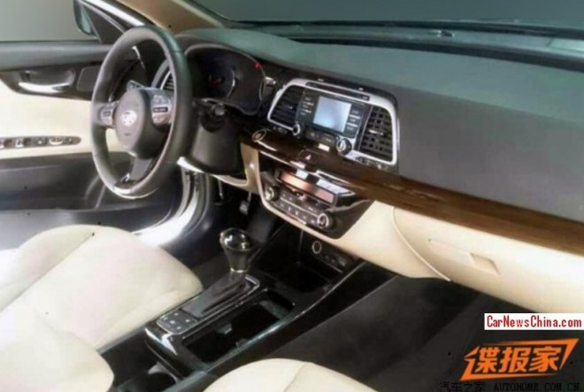 Spy Shots: Kia K4, the interior