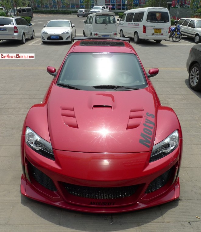 Mazda RX8 is a scary red Japanese monster in China