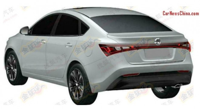 Patent Applied: the MG5 Four-door Coupe for the Chinese auto market