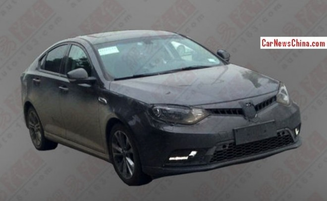 Spy Shots: facelifted MG6 seen testing in China