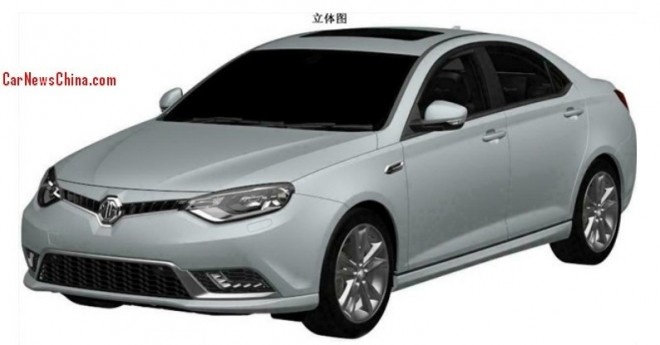 Patent Applied: facelift for the MG6 in China