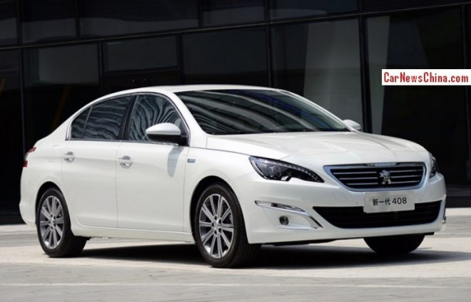 New Peugeot 408 sedan is Naked from all Sides in China
