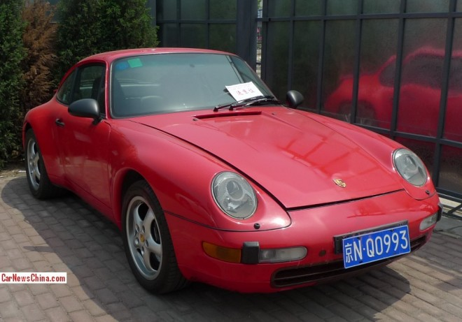 Spotted in China: 993 Porsche 911 Carrera Coupe with a License