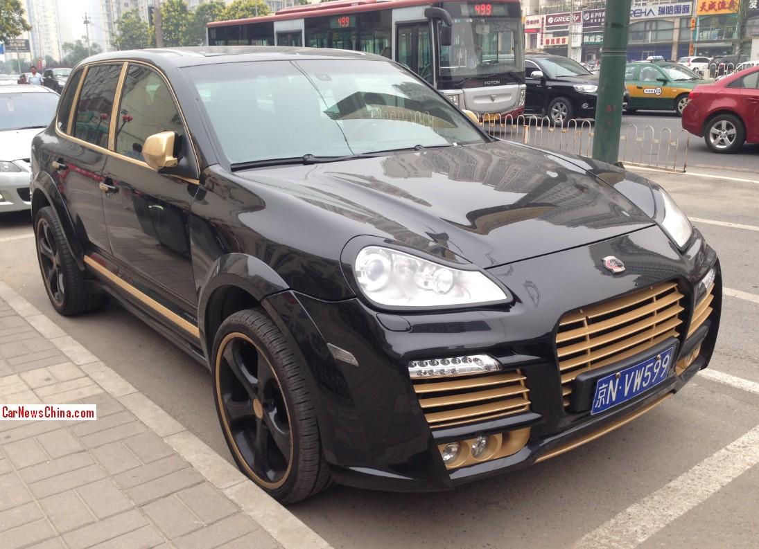 Spotted In China Porsche Cayenne Techart Magnum In Black Carnewschina Com