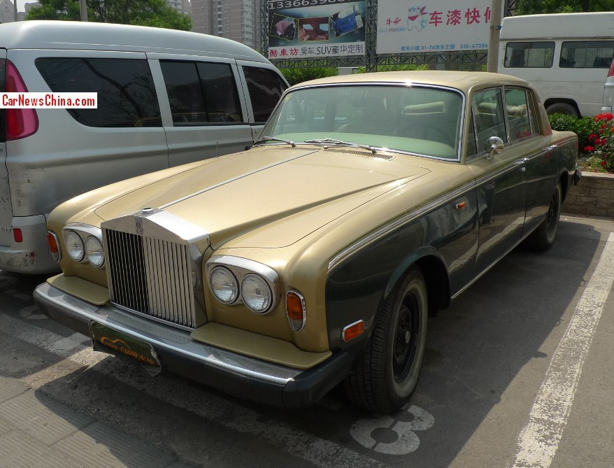 spotted in china rolls royce silver shadow ii. Black Bedroom Furniture Sets. Home Design Ideas
