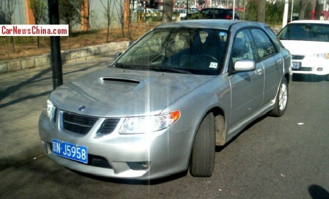 Spotted in China: Saab 9-2X Aero
