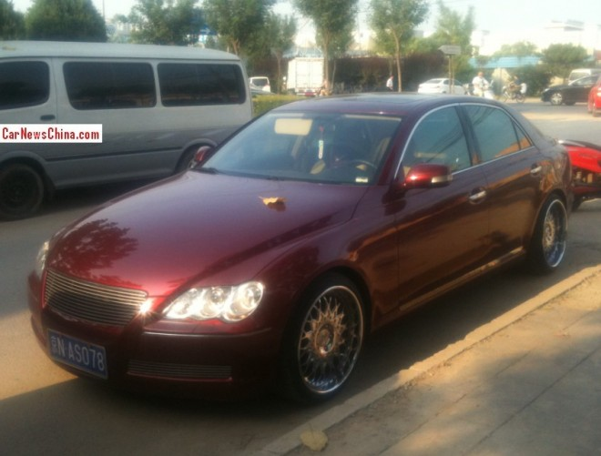 Toyota Reiz is a Wine Red low rider in China