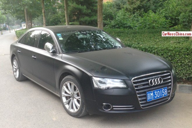Audi A8L is matte black in China