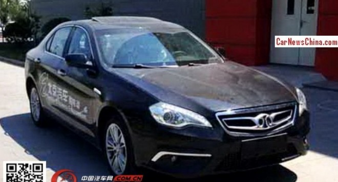 Spy Shots: Beijing Auto Senova B70 EV for the Chinese auto market