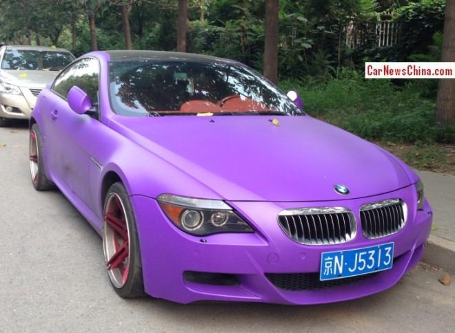 BMW M6 is matte light Purple in China