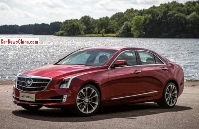 First official Photos of the Cadillac ATS-L for China
