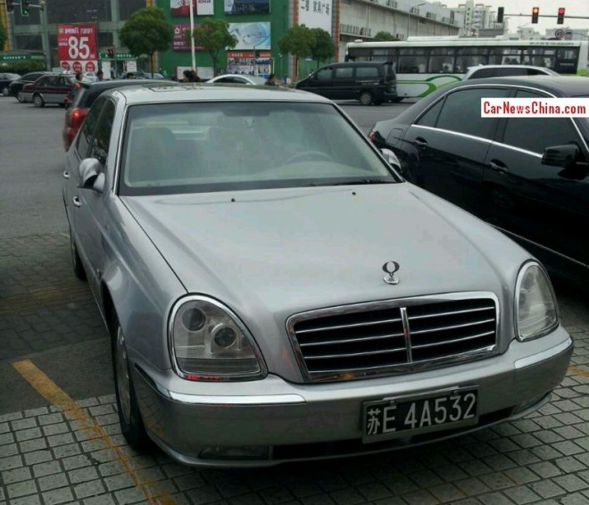 Spotted in China: SsangYong Chairman in silver gray