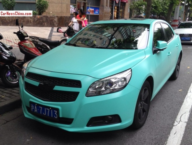 Chevrolet Malibu is turquoise in China