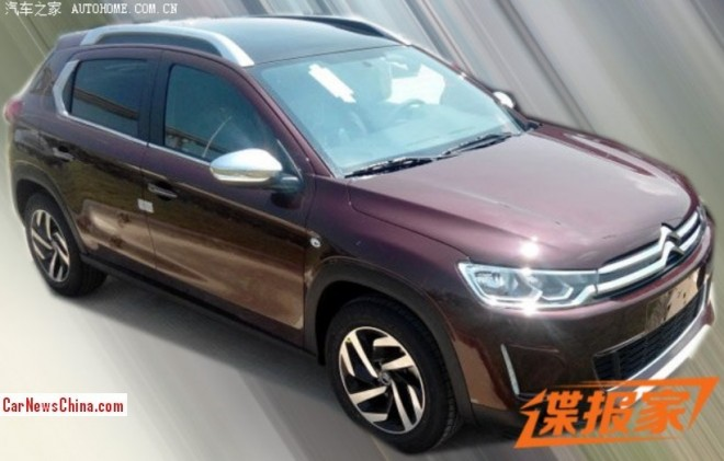 Spy Shots: Citroen C3-XR SUV testing in China