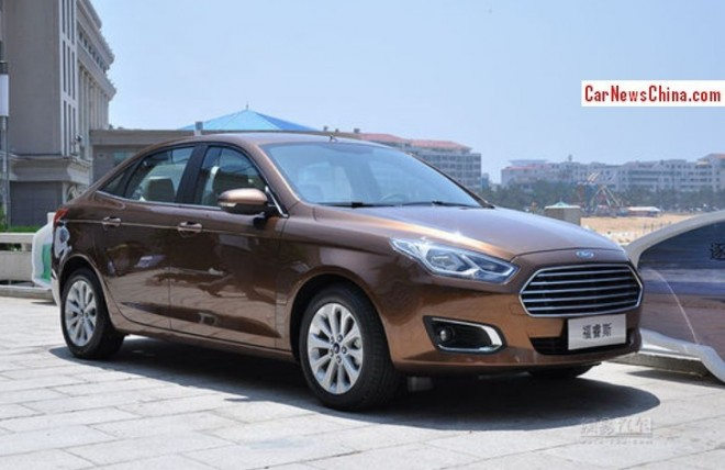 Official Photos of the new Ford Escort for the Chinese car market
