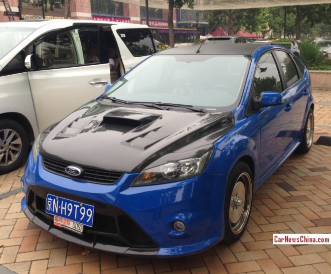 Ford Focus Classic is a Blue Racer in China