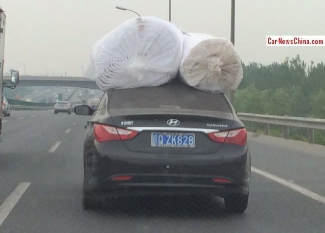 Hyundai Sonata is a fantastic plastic transporter in China