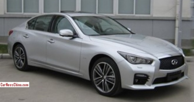 Spy Shots: Infiniti Q50 L is Naked in China