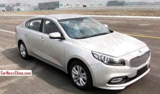 Spy Shots: new Kia K4 is Naked in China