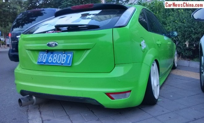 Ford Focus Classic is a lime green low rider in China