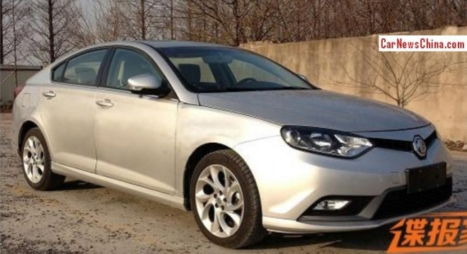 Spy Shots: facelifted MG6 is Naked in China