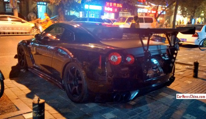 Nissan GT-R has a Giant Wing in China