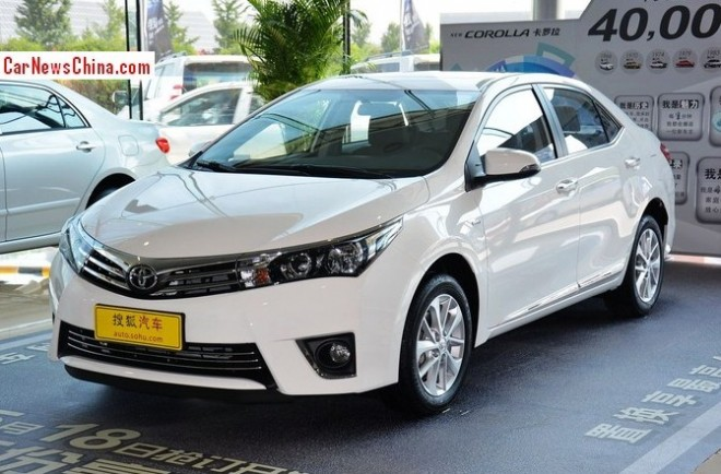 New Toyota Corolla hits the Chinese auto market