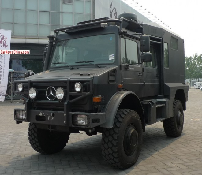 Unimog U5000 is a Big Black German Beast in China
