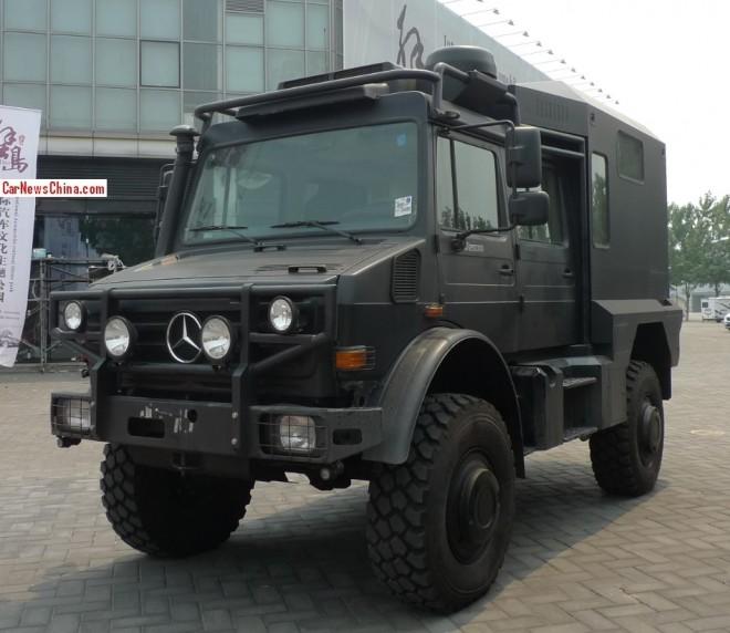 Unimog U5000 is a Big Black German Beast in China