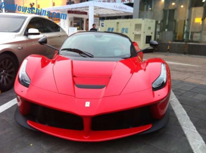 Spotted in China first Ferrari LaFerrari in Beijing