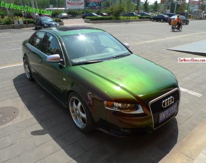 Audi A4 is copper brown green in China