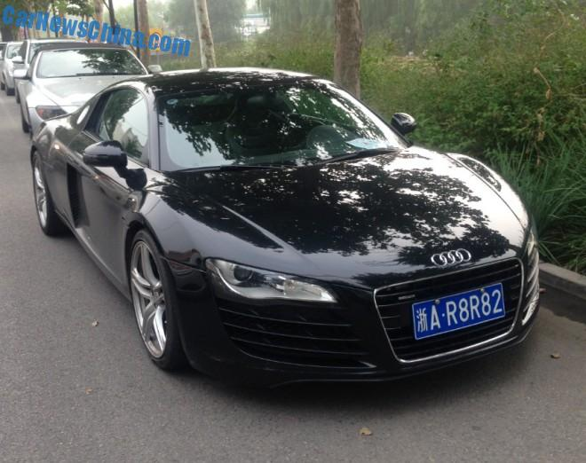 Audi R8 supercars have Licenses in China