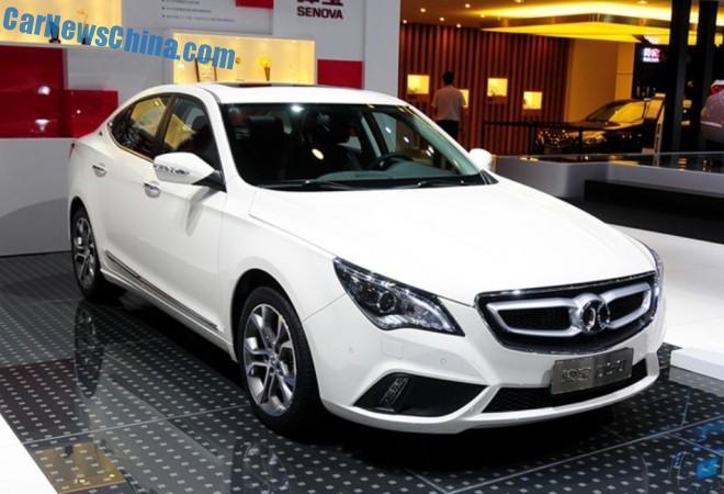 Beijing Auto Senova D60 debuts in China on the Chengdu Auto Show