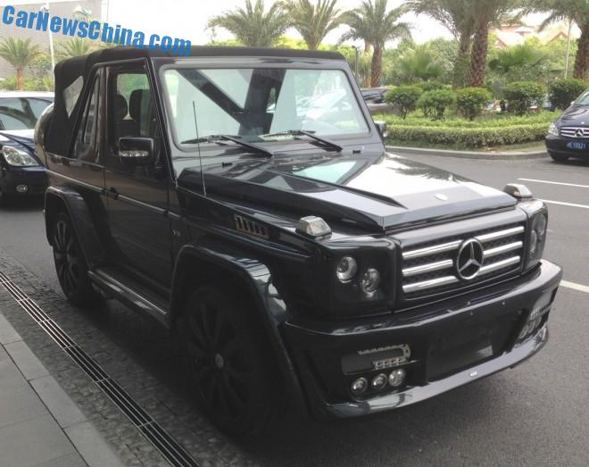 Spotted in China: ART Mercedes-Benz G500 Cabriolet Streetline in Black