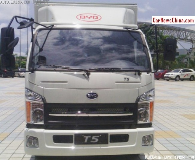 BYD T5 electric light truck is Ready to Revolutionize transport in China