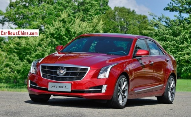 This is the new Cadillac ATS-L for the Chinese car market
